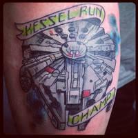 Millenium Falcon Tattoo by Green-Jet