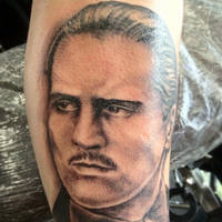 Godfather Portrait Tattoo by Green-Jet