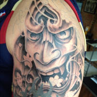 Hannya Black and Grey by Green-Jet