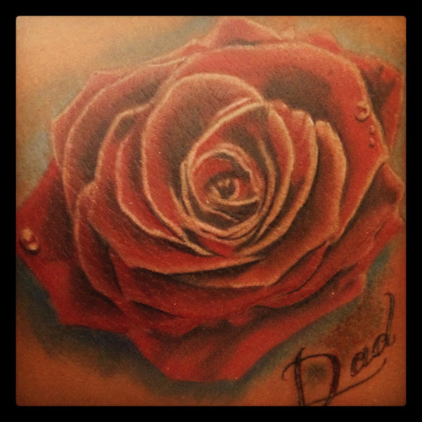 Colour rose tattoo by green jet on deviantart for Green colour rose images