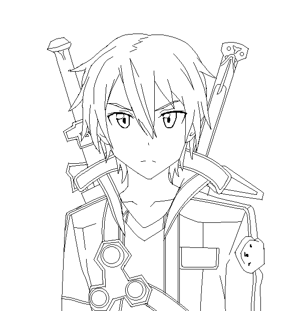 Sword Art Online Kirito Line Art by SonBui on DeviantArt