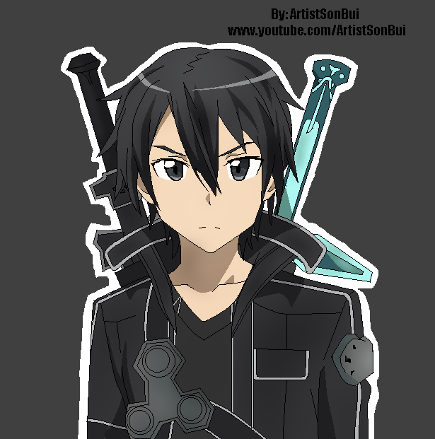 Sword Art Online Kirito by SonBui