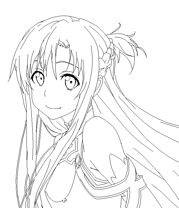Sword Art Online Asuna Lineart By Sonbui On Deviantart