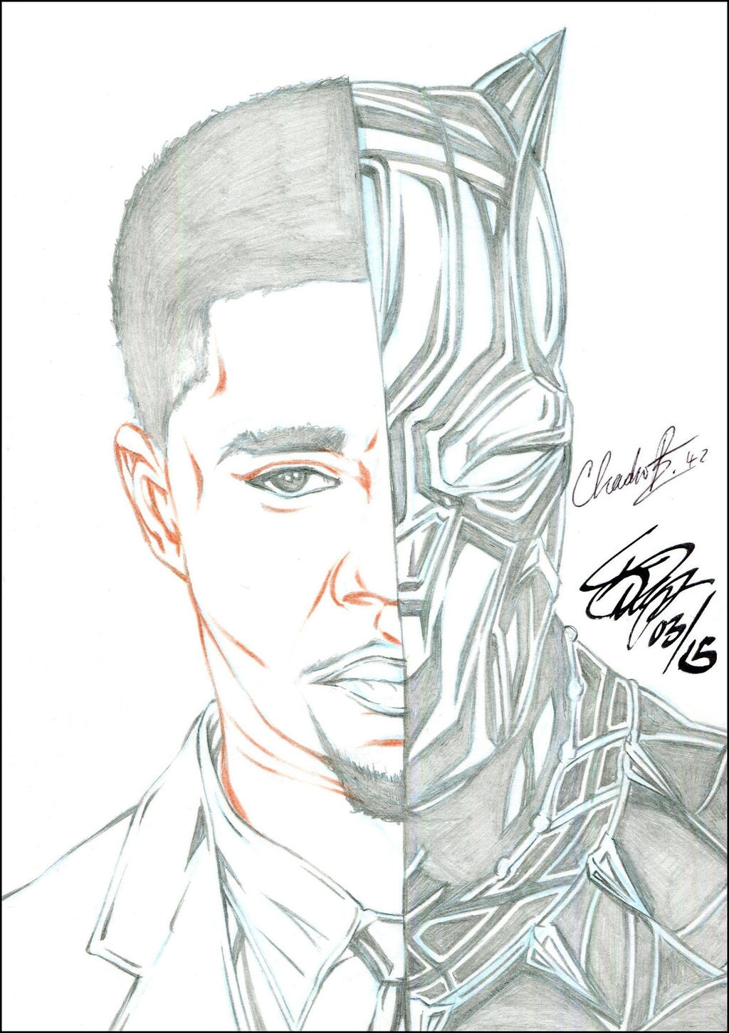 BLACK PANTHER AUTOGRAPHED PENCIL by ARTofTROY