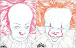 PENNYWISE 1990 AND 2017 PENCIL