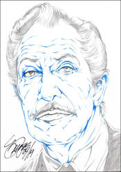 VINCENT PRICE PENCIL by ARTofTROY
