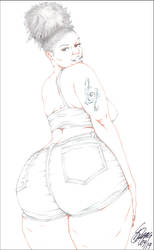 JACKIE'S BIG OL' PHAT BOOTYA PENCIL by ARTofTROY