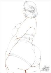 JOCELYN'S BIG OL' PHAT BOOTYA PENCIL by ARTofTROY