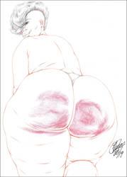 BBW BIG OL' BRUISED SPANKED PHAT AZZ 4 PENCIL by ARTofTROY