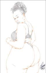 BIG OL' PHAT AZZ 13 PENCIL by ARTofTROY