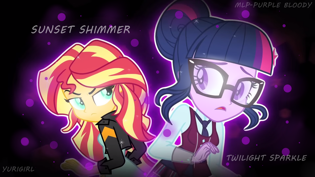 Twilight Sparkle And Sunset Shimmer Wallpaper By MLP PurpleBloody