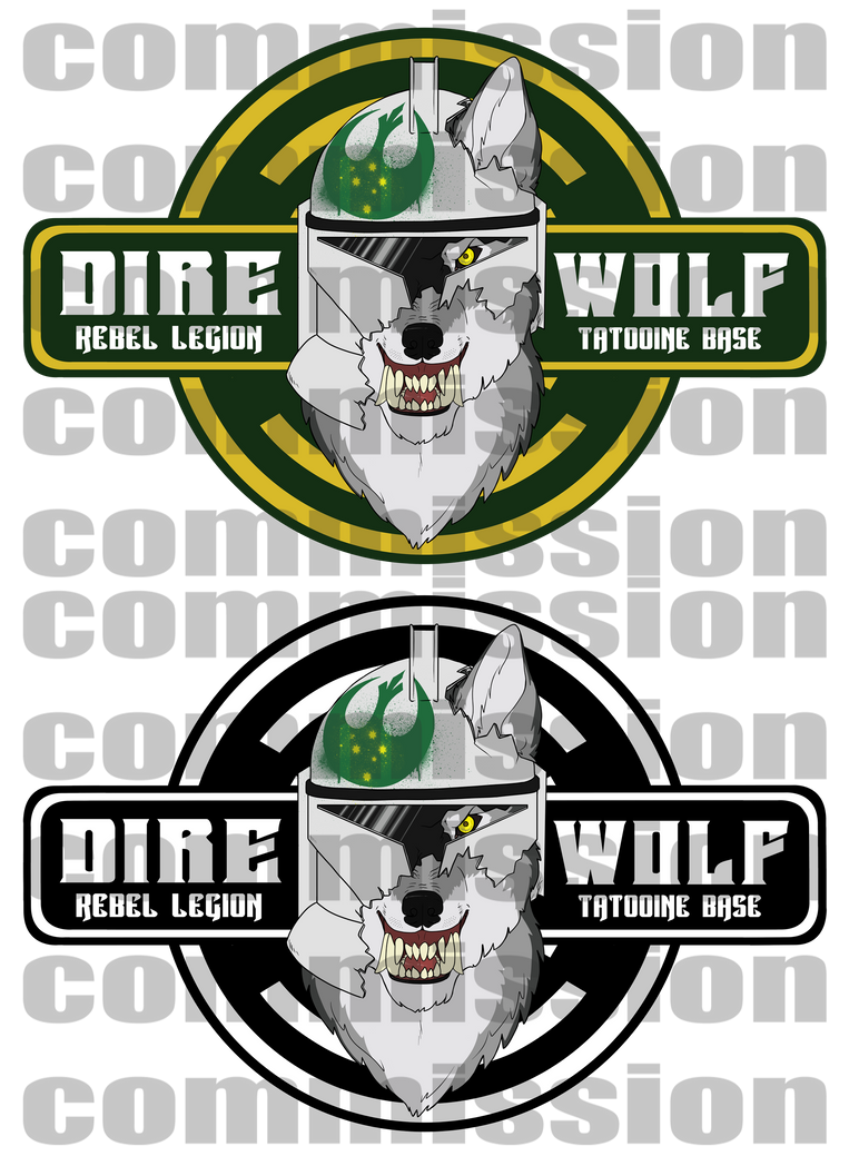 Direwolf Division Logos by Backwardstwin2