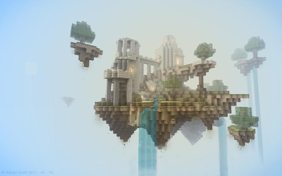 Floating  Isle - View 1 by Adrian-Drott