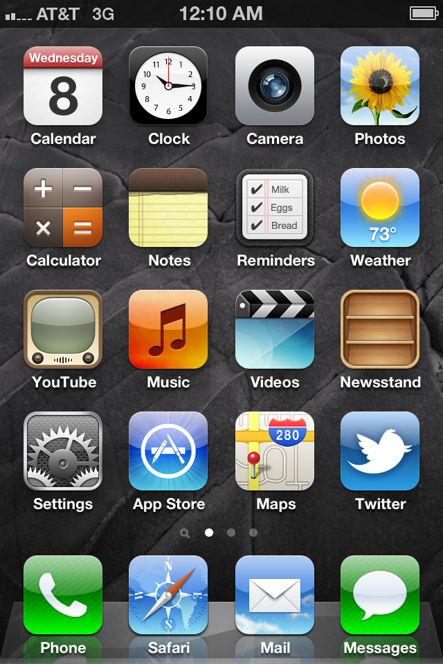 how to screenshot iphone 4 screen iphone 4 on ios 5 by roeiboot on deviantart 2371