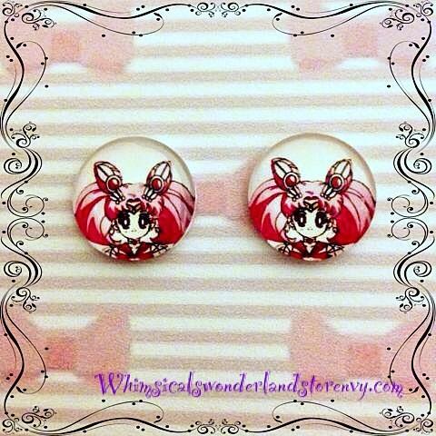 Chibiusa post earrings by psychseer13