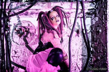 LA VIE EN ROSE | CYBER GOTH by PrincessMiele