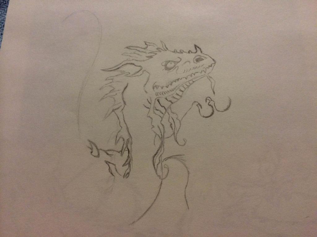 Unfinished Dragon by gaarafan103
