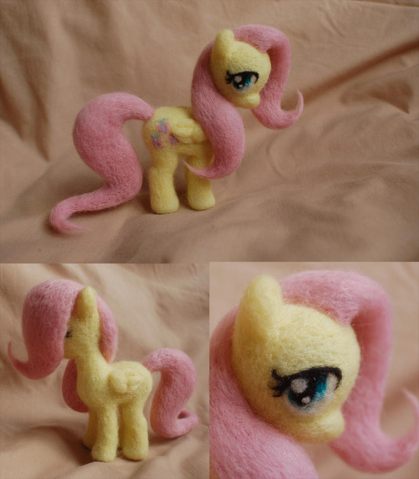 Fluttershy needle felt by ChloeNArt