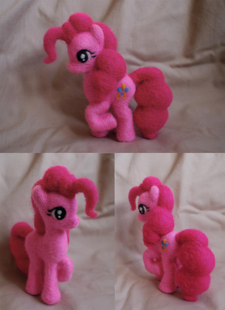 Pinkie Pie Needle Felt by ChloeNArt