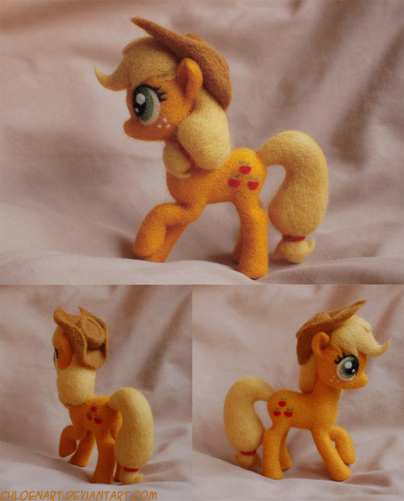 Applejack Needle Felt - Improved! by ChloeNArt