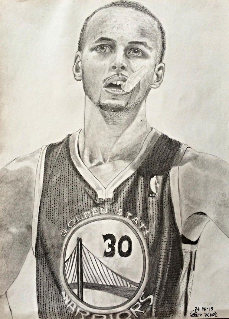 how to draw a stephen curry dauter
