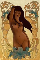 Art Nouveau a la lolita-art by doodle-lee-doo
