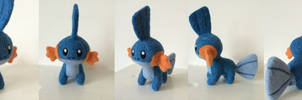 16-Finished Mudkip by Wool-Alchemist