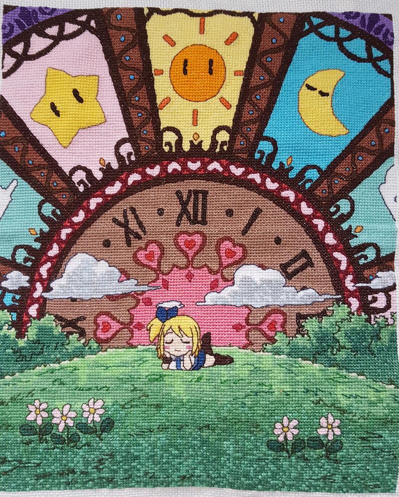 Fairy tail cross stitch by Wool-Alchemist