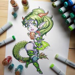 Chibi Ysera from World of Warcraft
