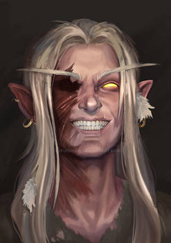 Blood elf portrait