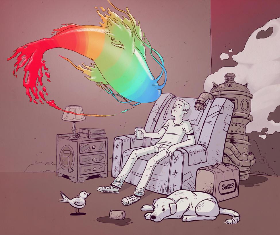 Visiones en el Sofa by onizord