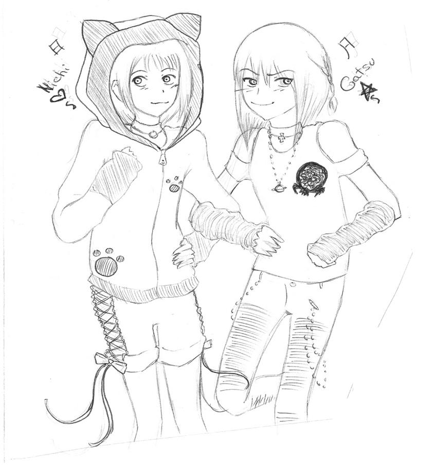 nichi to gatsu sketch by ikarichan