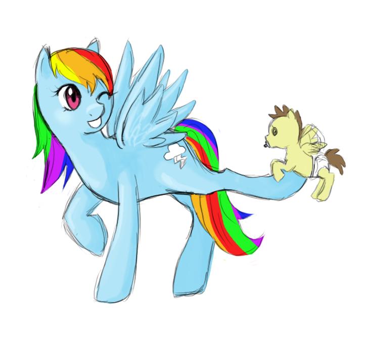 fast drawing of rainbow dash by ikarichan