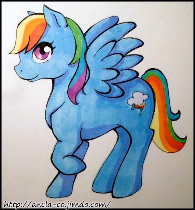 rainbow dash by ikarichan