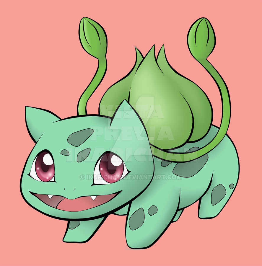 001 Bulbasaur by ikarichan