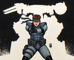 Solid Snake by WitcheressWoxy