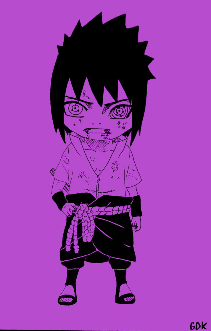 CHIBI RINNE SHARINGAN SHARRINEGAN SASUKE UCHIHA By GreatDrawingKing
