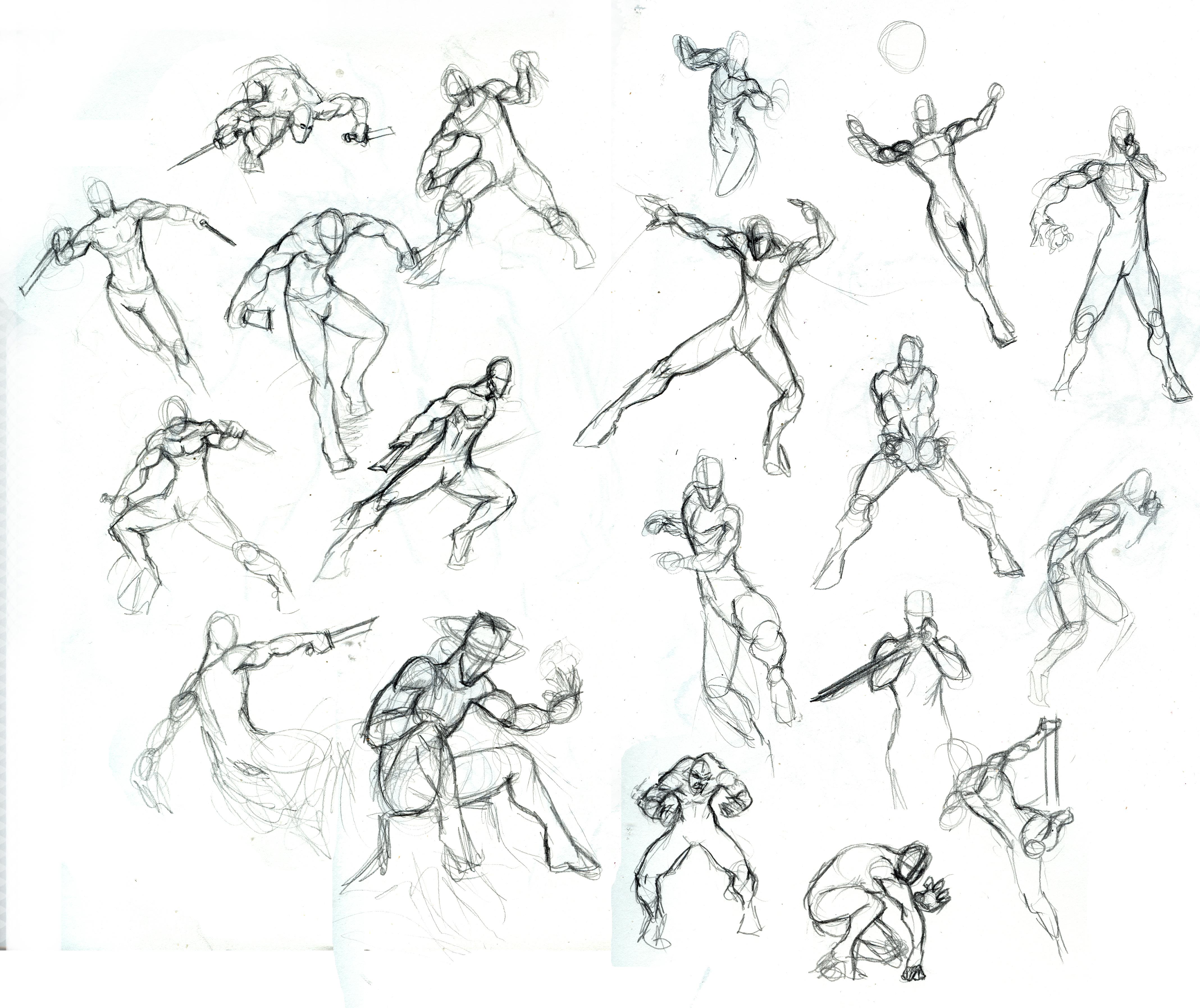 Рисование позы человека 16 фотография