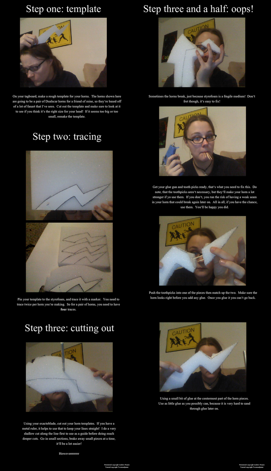 Homestuck Troll Horns Tutorial 1/4 by TwoToned-Jester