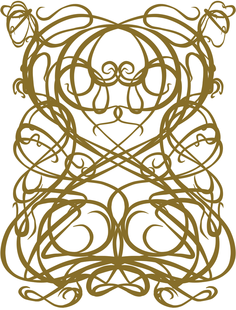 Art Deco Pattern Mirrored by Kila-TheMaDHatEr on DeviantArt