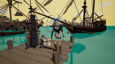 POLYGON Pirate - Cel shaded