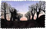 Sunset Tree Silohette Aliceljones