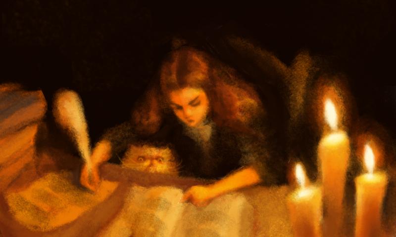 Hermione and Crookshanks by Leonie-Heartilly on DeviantArt