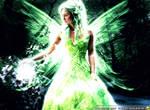 Green Shining Fairy Wallpaper