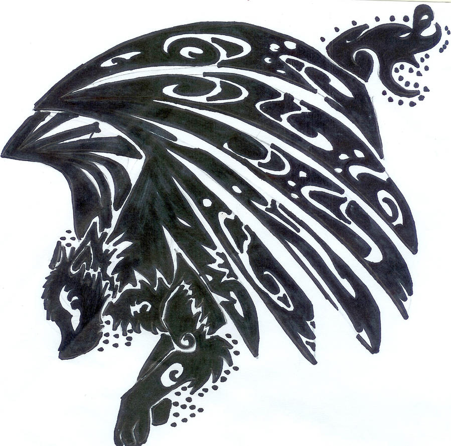 Tribal Winged Wolf Tattoo Fail by Pantherflame on DeviantArt