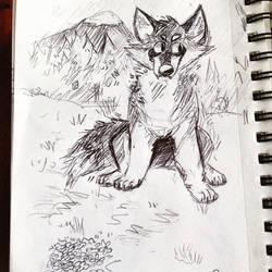 Wolfo by SkeleScribbles