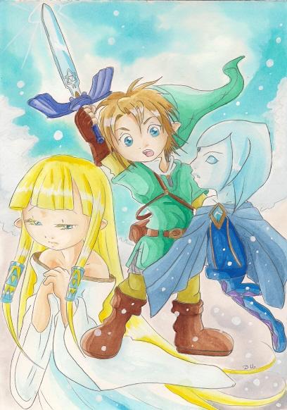 zelda link et fay chibi by zeldapeach - Link Et Zelda