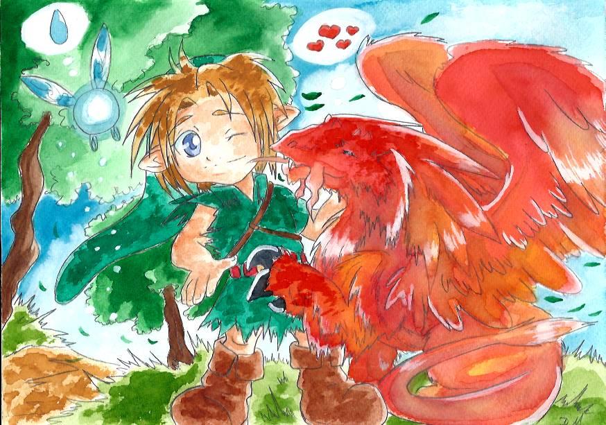 Gentil dragon by ZeldaPeach