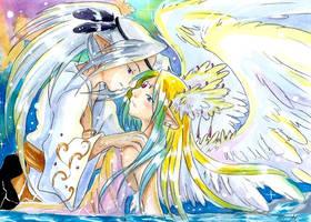 Tsukimeru et Ange by ZeldaPeach