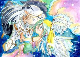 Tsukimeru et ange Chbi by ZeldaPeach